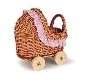 egmont mini puppenwagen aus korb spielzeug. Black Bedroom Furniture Sets. Home Design Ideas