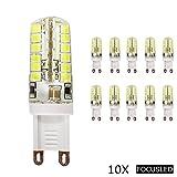 10X Focusled® G9 Sockel 3.1W 48 SMD 2835 LED Leuchtmittel Super energiesparend licht LED Lampe 360Abstrahlwinkel AC 200-240V 380-400LM Kaltweiß
