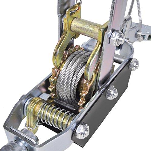 vidaxl tire c ble manuel 3630 kg avec 2 roues tire fort. Black Bedroom Furniture Sets. Home Design Ideas