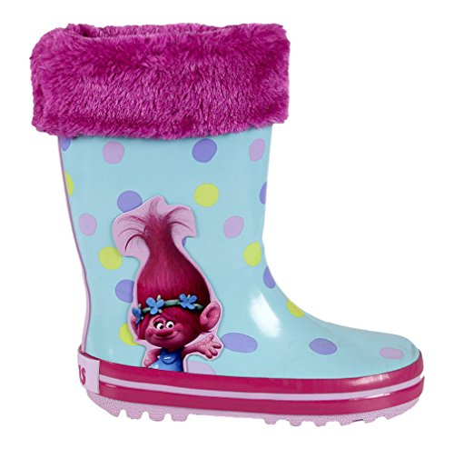 Trolls 2300002322, Botas de Agua para Niñas, Rosa (Pink), 28 EU