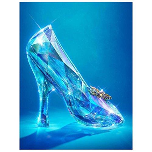 mikolotuk 5D Diamant Glas High Heel Gemälde DIY Mosaik Stickerei Set (Glas High Heel-figur)