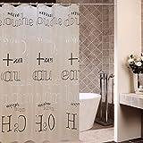 Dick Anti Schimmel Resistent Duschvorhang Wand Wc Vorhänge Vorhänge  Badezimmer Vorhang Wc Vorhänge,