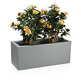 Pflanzkübel Blumentrog MURO Kunststoff Blumenkübel - Farbe: beton-grau matt -