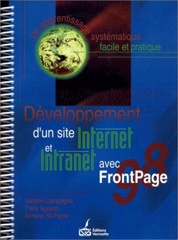 Développement Internet Frontpage 98