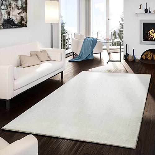 Alfombra Moderna Hecha inoxidable Gabbeh schlicht Fácil jaspeado en color crema, lana, beige, 240 x 340 cm