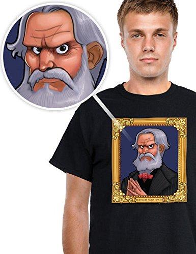 Digital Dudz Halloween T-Shirt Portrait bewegliche Augen schwarz bunt L (Halloween Schwarze Auge)
