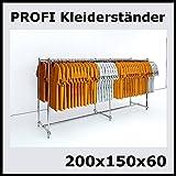 raff 200x150x60 Profi KLEIDERSTÄNDER BEKLEIDUNGSSTÄNDER Garderobe FREISTEHEND-W200