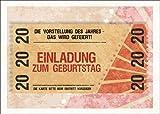 Party Einladungskarte zum 20. Geburtstag im coolen Ticket Look: Die Vorstellung des Jahres - Das wird gefeiert! Einladung zum Geburtstag • auch zum direkt Versenden mit ihrem persönlichen Text als Einleger.