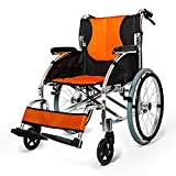 Folding Portable Wheelchair For The Elderly Manual Wheelchair Thick Handrail Handicapped Handcart
