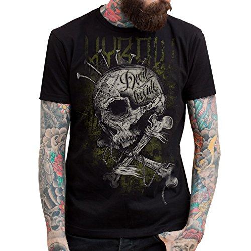 Hyraw -  T-shirt - Uomo nero XX-Large