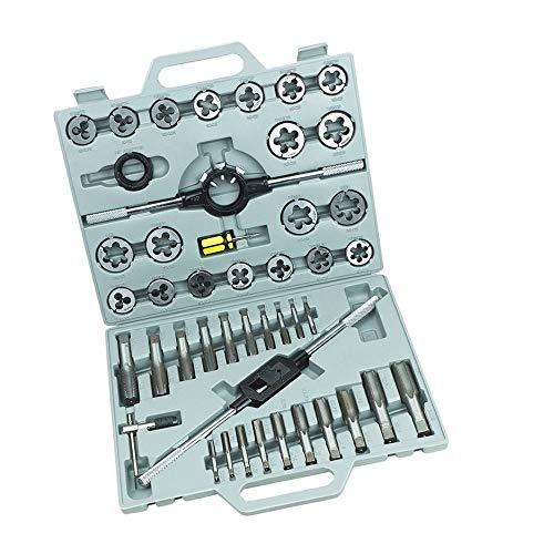 Froadp 45 tlg Gewindeschneidsatz Gewindeschneider Gewindeschneid Satz Gewinde Schneider Bohrer Werkzeug Set(45 teilig)