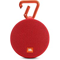 JBL Clip 2 Waterproof Portable Bluetooth Speaker - Red, JBLCLIP2REDAM