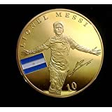 Moneda Conmemorativa Lionel Messi, FC Barcelona, famosos Fútbol Stars, niquelado