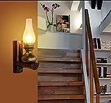 BD Retro Beleuchtung Wandleuchte Restaurant Lounge Bar Wandleuchte Dekorieren Balkon Treppenlampe Korridor Wandleuchte Industrielle Wandleuchte,25 * 30 cm