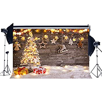 Sunny Star Christmas Backdrop 7X5FT Vinyl Gingerbread House Backdrops Candy Cane Lollipops Landscape Winter Fairytale Wonderland Photography Background for Happy New Year 2020 Photo Studio Props QB109