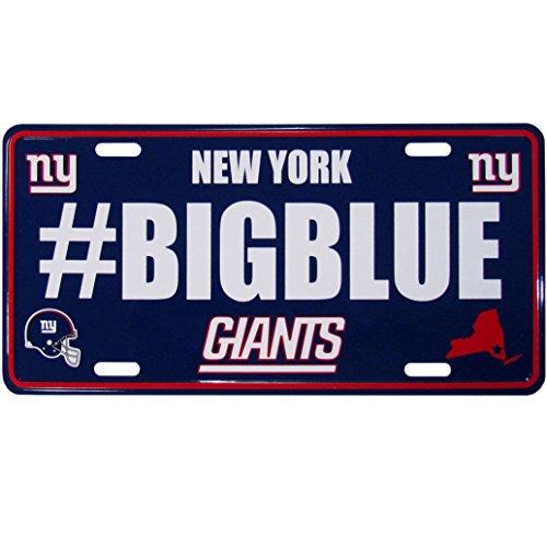 Siskiyou NFL New York Giants Hashtag License Plate (York Zubehör Giants New)
