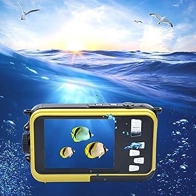 Inkint 16X Cámara resistente al agua con pantalla frontal de 1,8pulgadas y pantalla trasera TFT de 2,7pulgadas, 1920x 1080,Full HD, vídeo digital