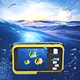inkint 16X Doble Pantallas (Pantalla Frontal de 1,8 Pulgadas Resistente al Agua, Pantalla Posterior TFT de 2,7 Pulgadas) de la Cámara 1920x1080 Full HD de Vídeo Digital