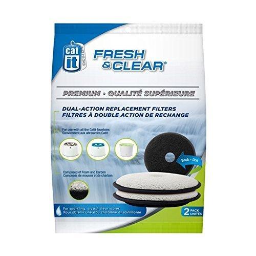 fresh and clear trinkbrunnen Catit 50029 Premium Ersatzfilter 2er-Pack für die Catit