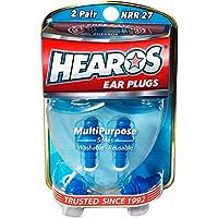 Mehrzweck-Ohrstöpsel von Hearos für Wasser und Lärm, 2 Paar, inklusive Tasche preisvergleich bei billige-tabletten.eu