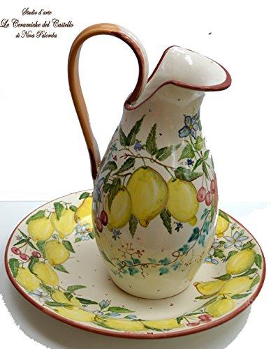 set-piatto-brocca-linea-fiori-e-frutta-mista-complemento-darredo-dipinto-a-mano-le-ceramiche-del-cas