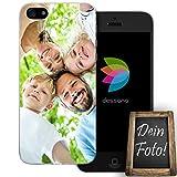 dessana Eigenes Foto Transparente Schutzhülle Handy Tasche Case für Apple iPhone 5/5S/SE