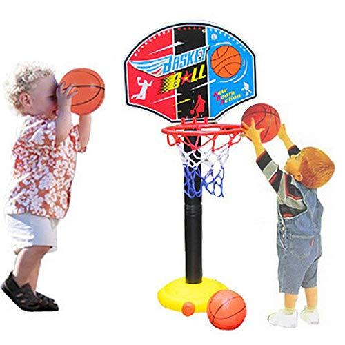CX TECH Junge tragbare Basketballkorb Standplatz Ball Pumpe Rückwand Set Ball Indoor Outdoor Fun Aktivitäten Spielzeug 3 Jahre ältere Kleinkind Baby Sport