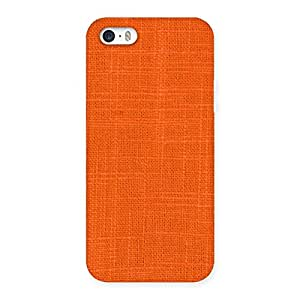 Orange Texture Back Case Cover for iPhone SE