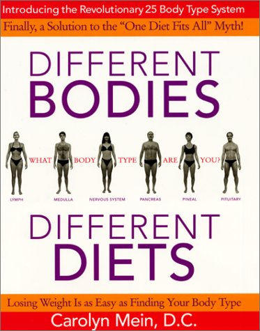 Different Bodies, Different Diets por Carolyn L. Mein
