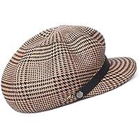 Melodycp Fácil de Usar Gorro de Vendedor de periódicos para Mujer Sombrero  de Invierno Visera Gorra d33f6743441