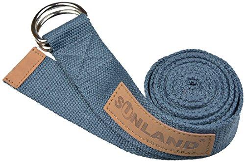 Sunland Yoga Pilates Exercice Stretching Ceinture Fitness Formation Sangle de yoga 183cm Gris foncé