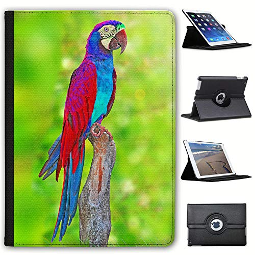 "Fancy A Snuggle - Custodia a Libro in Similpelle con Funzione di Supporto, per Apple iPad e Tablet Nero Elegant Red Blue Macaw Parrot Apple iPad PRO 10.5"" / 11\"" (2018 Version)"