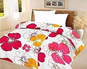 Mahadev Handicrafts Big Floral Quilt Blue A.C Blanket Double Bed Size Dohar