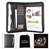 Leathario-Portfolio A4 en cuir PU, porte document, portfolio cuir pour bureau, agenda d'affaires en cuir, chemise de dossier en cuir, portfolio cuir pour directeur