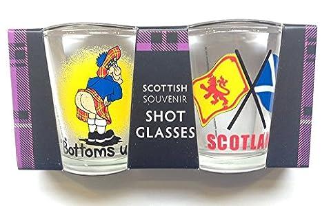 Écossais Du cadeau - Verres À Liqueur Bas des jumeaux flagsTwin lot - gb du cadeau
