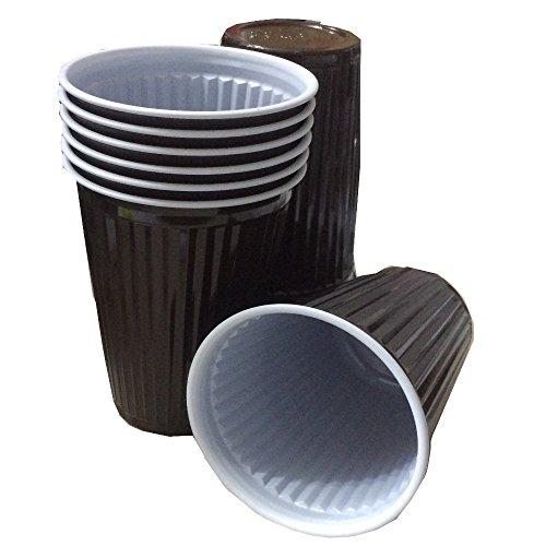 Trendsky Premium Braun Thermobecher 180ml Plastikbecher Cups 0,18l Automatenbecher 180ccm (300...
