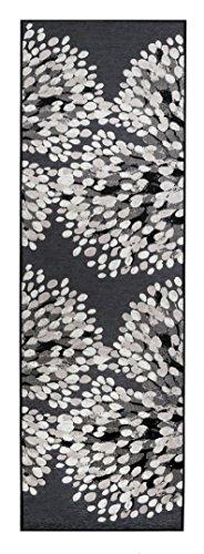 Vallila Interior CM000172-27 Sydänpuu gewebt Teppichläufer, Chenille, 68 x 220 x 8 cm, dunkelgrau / schwarz
