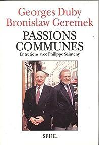 Passions communes par Georges Duby