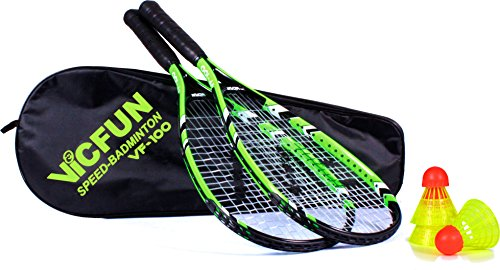 VICFUN Speed Badminton Set Vicfun Speed Badminton 100 Set, schwarz/grün, 868/0/0 - Tragegurt Speed