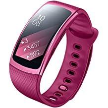 Samsung Gear Fit 2 SM-R360 - Smartwatch de 1.5'' (4 GB, 1 GHz, 512 MB RAM, talla S), color rosa [Asia Version]
