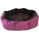 Tonsee Bett Schlafsack Matte Haus Höhle im Winter Soft Pet Dog Schlafen, Bett Haus Cat Claw Warm Tasche Matte Decke für Welpen Indoor 36cmX30cm (Rot)