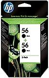 HP 56 - 2-pack Black Inkjet Print Cartridges (C9502AE)