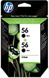 HP 56 - 2-pack Black Inkjet Print Cartridges (C9502AE)