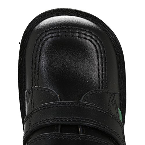 Kickers Kick faible Vl nourrissons Chaussures en cuir à Velcro Noir - noir