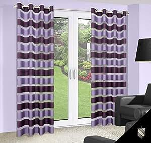140x245 violett Pflaume lila Vorhang Vorhänge Gardine Ösenschal violet purple lilac 180_1