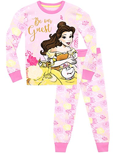 Disney-Beauty-and-the-Beast-Girls-Beauty-and-the-Beast-Pyjamas-Snuggle-Fit-Ages-18-Months-to-8-Years