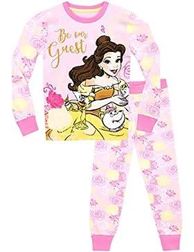 Disney La bella y la bestia - Pijama para niñas - Beauty & the Beast - Ajuste Ceñido