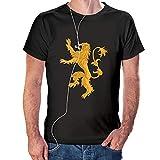 Camiseta de Casa Lannister – Juego de Tronos Color Negro (L)