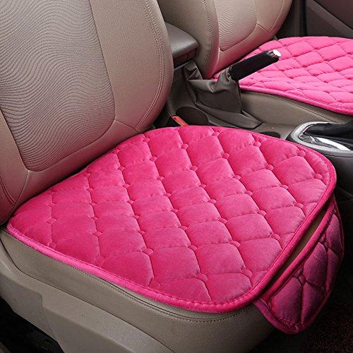 Leaftree Coprisedili in velluto di seta soffice di qualità Cuscino del sedile per auto universale Seggiolino viola beige rosa Interni Accessori interni auto Parte anteriore anterio