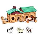 Wuxingqing Giocattoli educativi per Bambini Bambini 3-12 Anni Fattoria e Piccola Bottega Set di Blocchi di Legno Giocattoli for Bambini Regalo educativo per Le Ragazze dei Ragazzi